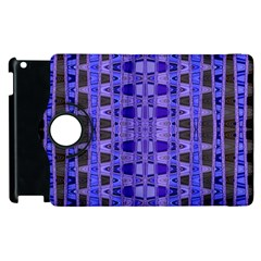 Blue Black Geometric Pattern Apple iPad 2 Flip 360 Case