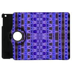 Blue Black Geometric Pattern Apple iPad Mini Flip 360 Case