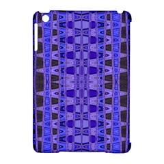 Blue Black Geometric Pattern Apple iPad Mini Hardshell Case (Compatible with Smart Cover)