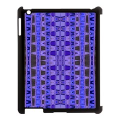 Blue Black Geometric Pattern Apple iPad 3/4 Case (Black)