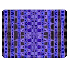Blue Black Geometric Pattern Samsung Galaxy Tab 7  P1000 Flip Case