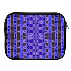 Blue Black Geometric Pattern Apple iPad 2/3/4 Zipper Cases