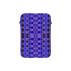 Blue Black Geometric Pattern Apple iPad Mini Protective Soft Cases