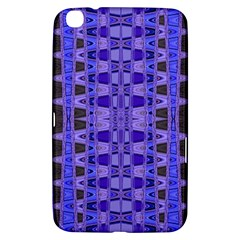 Blue Black Geometric Pattern Samsung Galaxy Tab 3 (8 ) T3100 Hardshell Case