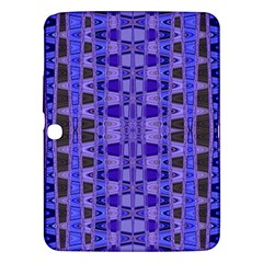 Blue Black Geometric Pattern Samsung Galaxy Tab 3 (10.1 ) P5200 Hardshell Case