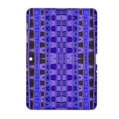 Blue Black Geometric Pattern Samsung Galaxy Tab 2 (10.1 ) P5100 Hardshell Case