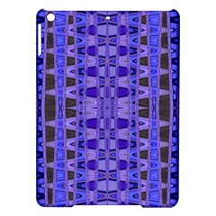 Blue Black Geometric Pattern iPad Air Hardshell Cases