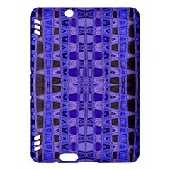 Blue Black Geometric Pattern Kindle Fire Hdx Hardshell Case by BrightVibesDesign
