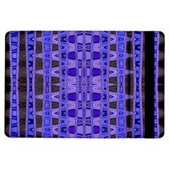 Blue Black Geometric Pattern Ipad Air Flip
