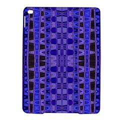 Blue Black Geometric Pattern Ipad Air 2 Hardshell Cases by BrightVibesDesign