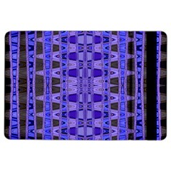 Blue Black Geometric Pattern iPad Air 2 Flip