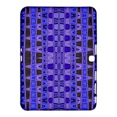 Blue Black Geometric Pattern Samsung Galaxy Tab 4 (10.1 ) Hardshell Case