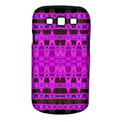 Bright Pink Black Geometric Pattern Samsung Galaxy S Iii Classic Hardshell Case (pc+silicone)