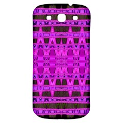 Bright Pink Black Geometric Pattern Samsung Galaxy S3 S Iii Classic Hardshell Back Case