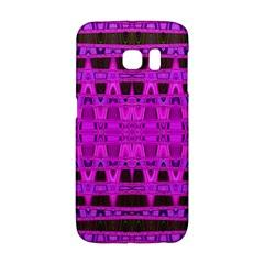 Bright Pink Black Geometric Pattern Galaxy S6 Edge