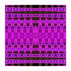Bright Pink Black Geometric Pattern Medium Glasses Cloth
