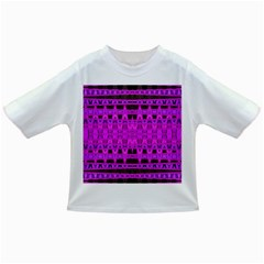 Bright Pink Black Geometric Pattern Infant/toddler T Shirts