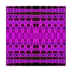 Bright Pink Black Geometric Pattern Tile Coasters