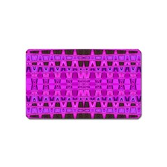 Bright Pink Black Geometric Pattern Magnet (name Card)