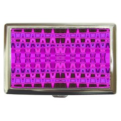 Bright Pink Black Geometric Pattern Cigarette Money Cases