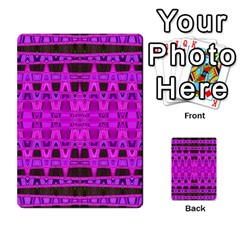 Bright Pink Black Geometric Pattern Multi Purpose Cards (rectangle)  by BrightVibesDesign