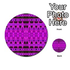 Bright Pink Black Geometric Pattern Multi Purpose Cards (round)  by BrightVibesDesign