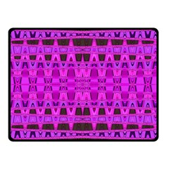 Bright Pink Black Geometric Pattern Double Sided Fleece Blanket (small)  by BrightVibesDesign