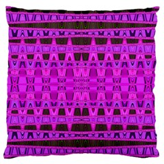 Bright Pink Black Geometric Pattern Standard Flano Cushion Case (two Sides)
