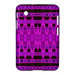 Bright Pink Black Geometric Pattern Samsung Galaxy Tab 2 (7 ) P3100 Hardshell Case  by BrightVibesDesign