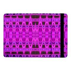 Bright Pink Black Geometric Pattern Samsung Galaxy Tab Pro 10 1  Flip Case by BrightVibesDesign