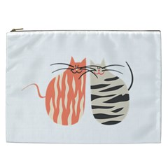 Two Lovely Cats   Cosmetic Bag (xxl)