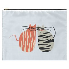 Two Lovely Cats   Cosmetic Bag (xxxl)
