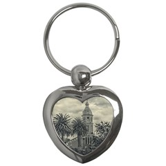 San Luis Church Otavalo Ecuador Key Chains (heart)  by dflcprints