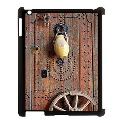Oriental Wooden Rustic Door  Apple Ipad 3/4 Case (black) by TastefulDesigns