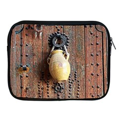 Oriental Wooden Rustic Door  Apple Ipad 2/3/4 Zipper Cases