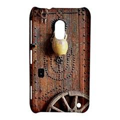 Oriental Wooden Rustic Door  Nokia Lumia 620