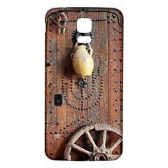 Oriental Wooden Rustic Door  Samsung Galaxy S5 Back Case (white)