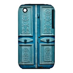 Turquoise Oriental Old Door Apple Iphone 3g/3gs Hardshell Case (pc+silicone)