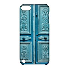 Turquoise Oriental Old Door Apple Ipod Touch 5 Hardshell Case With Stand by TastefulDesigns