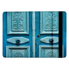 Turquoise Oriental Old Door Samsung Galaxy Tab Pro 12 2  Flip Case by TastefulDesigns