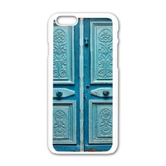 Turquoise Oriental Old Door Apple Iphone 6/6s White Enamel Case