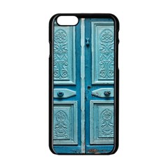 Turquoise Oriental Old Door Apple Iphone 6/6s Black Enamel Case