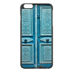 Turquoise Oriental Old Door Apple Iphone 6 Plus/6s Plus Black Enamel Case