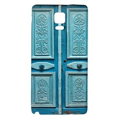 Turquoise Oriental Old Door Galaxy Note 4 Back Case