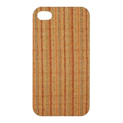Elegant Striped Linen Texture Apple Iphone 4/4s Premium Hardshell Case