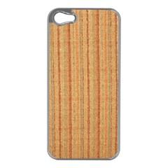 Elegant Striped Linen Texture Apple Iphone 5 Case (silver)