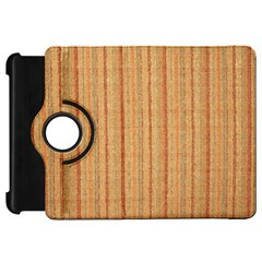 Elegant Striped Linen Texture Kindle Fire Hd Flip 360 Case