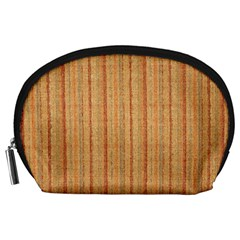 Elegant Striped Linen Texture Accessory Pouches (large)