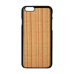 Elegant Striped Linen Texture Apple Iphone 6/6s Black Enamel Case