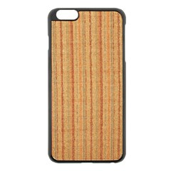 Elegant Striped Linen Texture Apple Iphone 6 Plus/6s Plus Black Enamel Case
